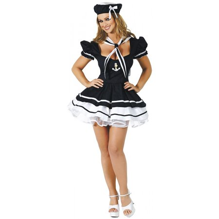 Sailor Sweetie Adult Costume - Medium/Large - Sailor Coatume