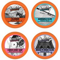 Brooklyn Bean Roastery Medium Roast Variety Pack K-Cup Coffee Pods, 40 Count - Includes our Cyclone, French Roast, Fuhgeddaboutit, and Expresso-O Roasts