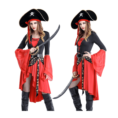 Women's Sexy Hot Buccaneer Dress up Costume, Pirate Dress up Costume for Adult - Pirate Dress Up For Adults