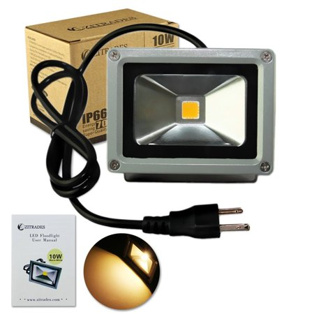 zitrades flood light led outdoor spotlight 10w warm color led christmas lights for tree ip65 waterproof