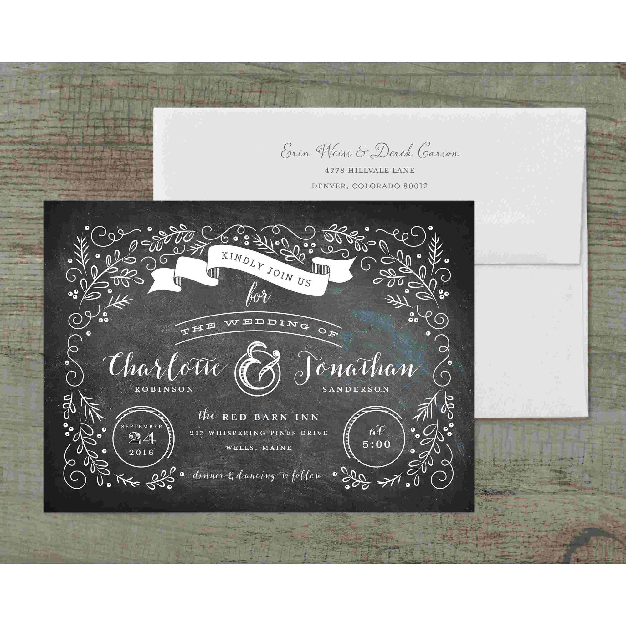 Garden Scroll Deluxe Wedding Invitation