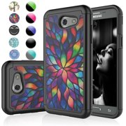 Galaxy J3 Emerge Case,Galaxy Amp Prime 2 Sturdy Case,J3 Luna Pro Case For Girls,Njjex [Color Petal] Bling Crystal Studded Rhinestone Cases Cover For Samsung Galaxy Express Prime 2 / J3 (2017)