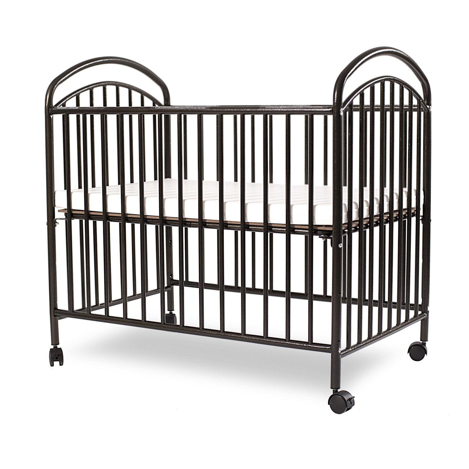La Baby Classic Arched Mini Portable Crib Walmart Com