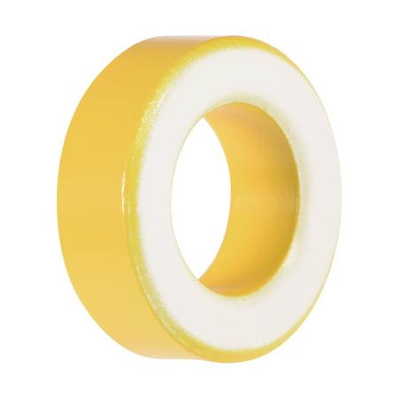 19.5 x 33.5 x 11.1mm Ferrite Ring Iron Powder Toroid Cores Yellow White - image 3 of 3