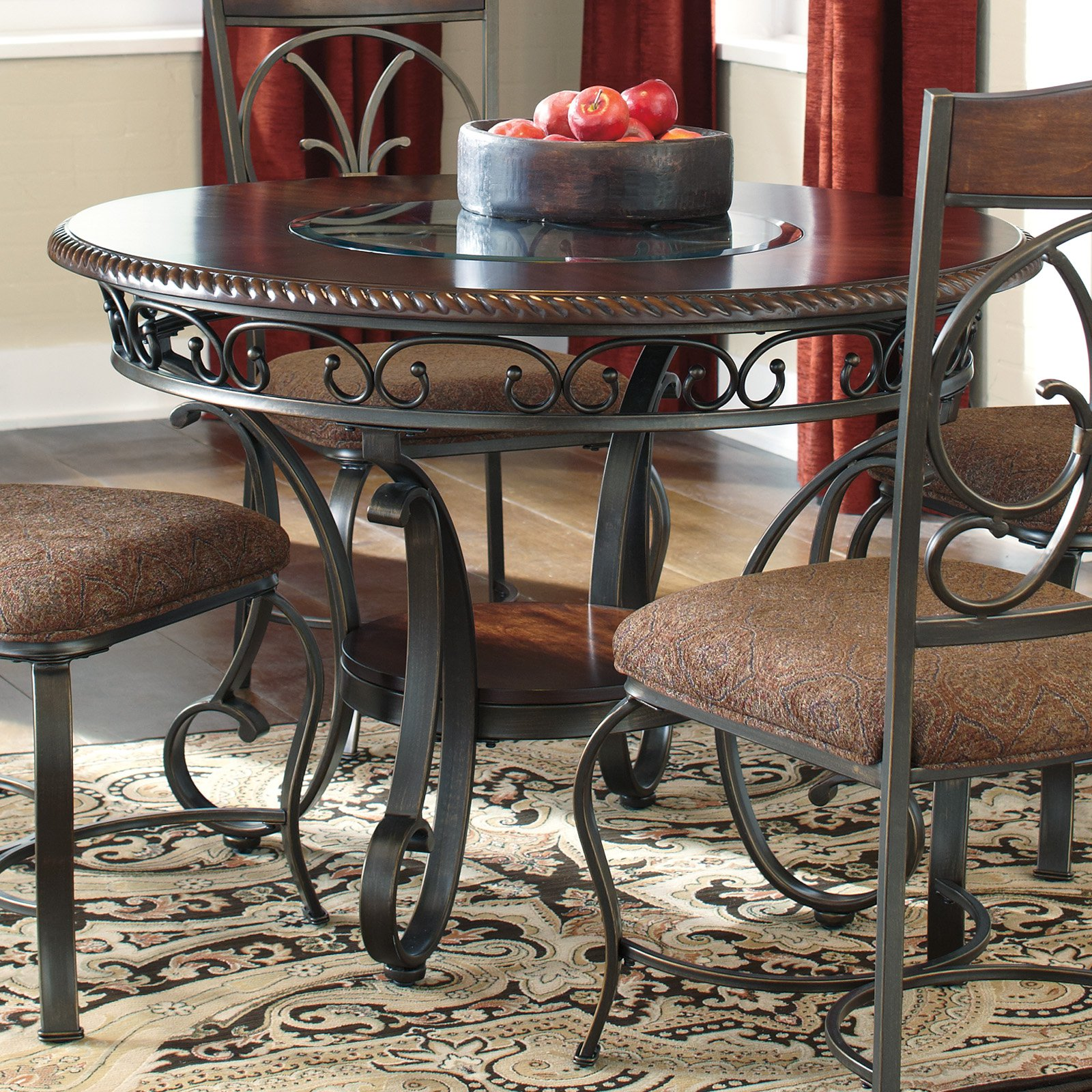Signature Design By Ashley Glambrey Round Dining Table Walmartcom