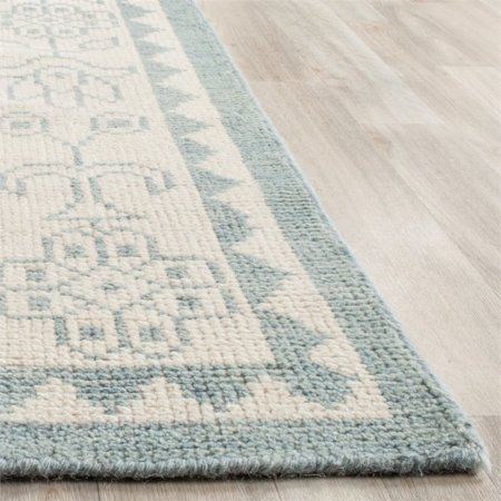 Safavieh Kenya 2' X 3' Hand Knotted Wool Pile Rug in Ivory and Blue - image 9 of 10