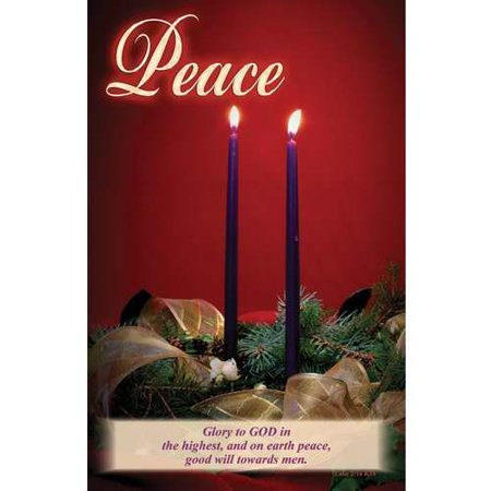 Bulletin-Christmas-Advent Candles-Peace (Pack of 100)