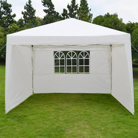 Sunrise 10' x 13' Wedding Party Tent Portable Folding Gazebo Camping Canopy W/Carry Bag and Side Wall