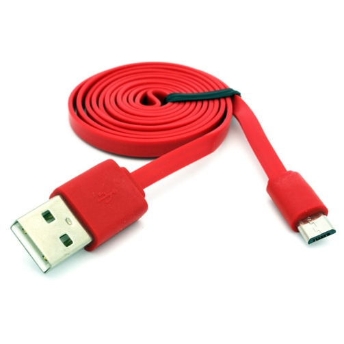 Red 3ft Flat USB Cable Rapid Charger Sync Power Wire Cord 9E for Amazon Fire HD 10 8, Kindle DX Fire HD 6 7 8.9 HDX 7 8.9 - LG G Pad 10.1 7.0 8.0 8.3 F 8.0 X8.3, Stylo 3, V10 - Motorola Droid Turbo 2