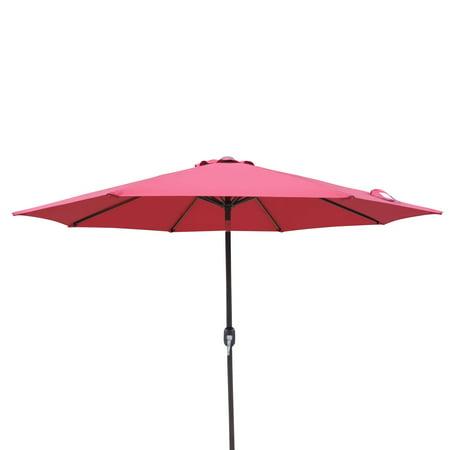 Island Umbrella Trinidad 9-ft Octagonal Market Umbrella in Polyester Octagonal Sunbrella Market Umbrella