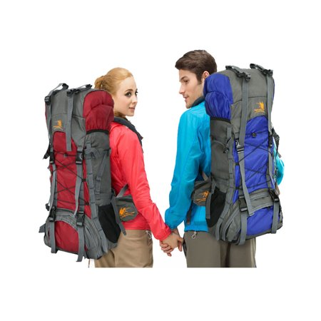 Zimtown 60L Waterproof Hiking Backpack, Camping Mountaineering Lightweight Rucksack, for Travel Climbing and Trekking Outdoor (Camping And Hiking)