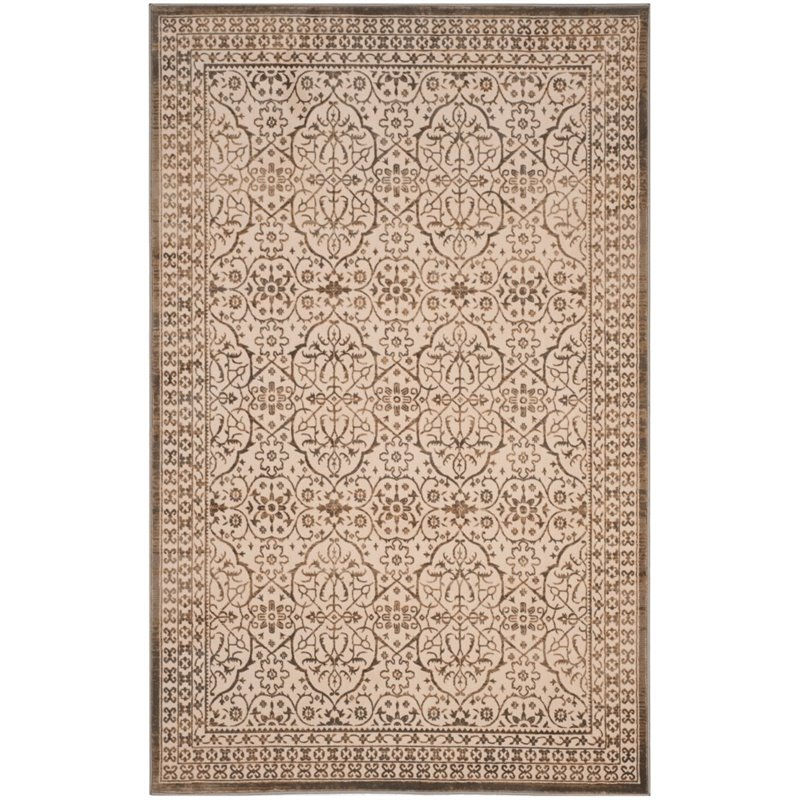 Safavieh Brilliance 4' X 6' Power Loomed Rug in Cream and Bronze - image 3 of 3