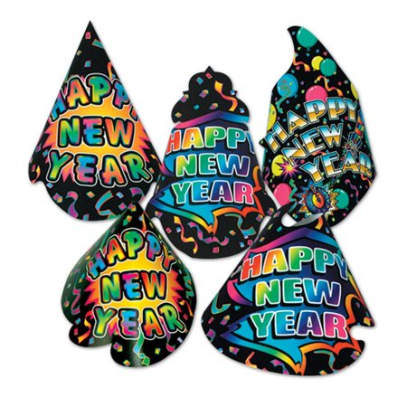 (50ct) New Yorker Hat New Year's Eve Party Kit