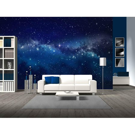 wall26 - Deep space. High definition star field background - Removable Wall Mural | Self-adhesive Large Wallpaper - 66x96 inches