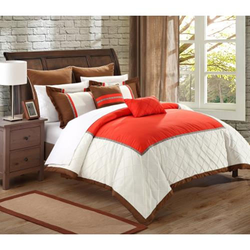 Chic Home Grenville 11-Piece Bed in a Bag Comforter Set Queen