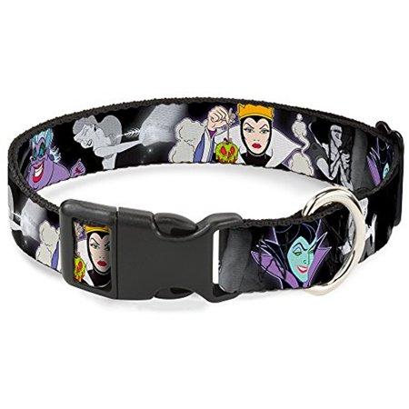 Buckle-Down Villains Hexing Princess' Scenes Color Black White Disney Breakaway Plastic Clip Collar, Narrow-Large](Disney Villain Snow White)