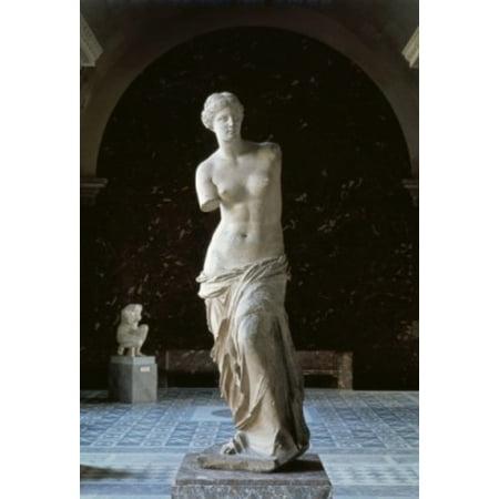 Venus de Milo 150 BCE Greek Art Marble Musee du Louvre Paris France Canvas Art -  (18 x - Venus Greek