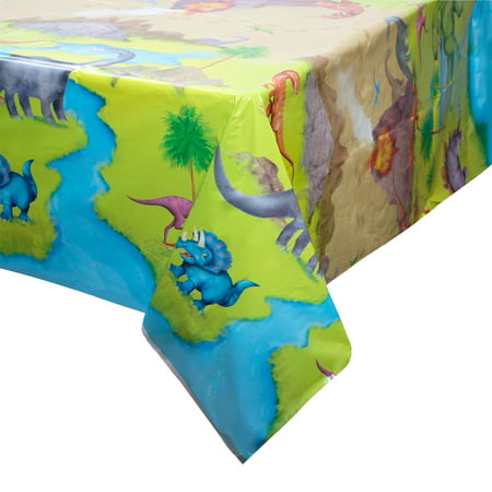 Dinosaur Plastic Party Tablecloth, 84 x - Dinosaurs Birthday