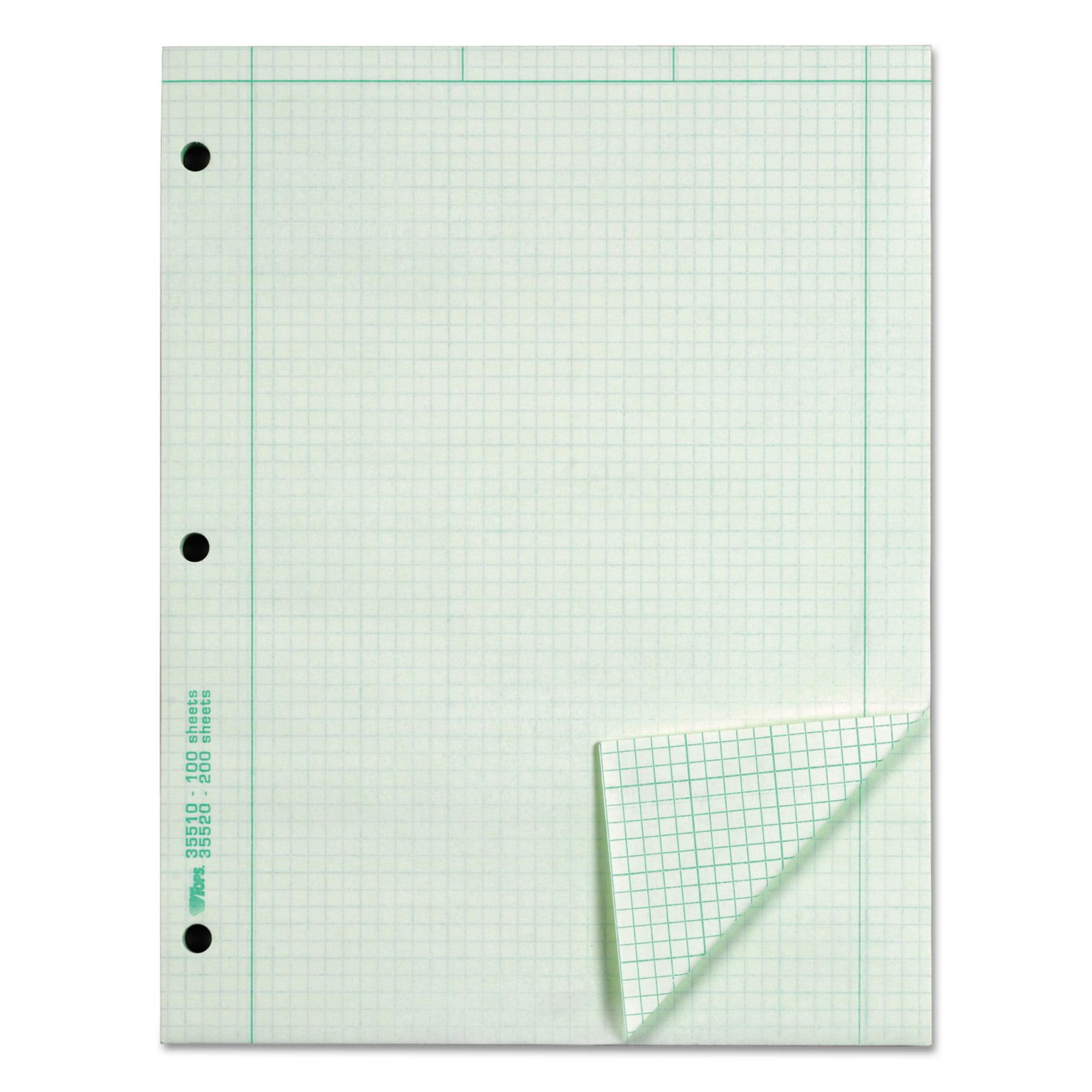 TOPS Engineering Computation Pad, Grid to Edge, 8 1/2 x 11, Green ...
