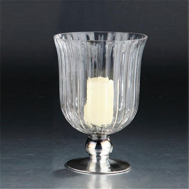 Diamond Star 45020 10 x 7 in. Glass Hurricane Candle Holder, Clear
