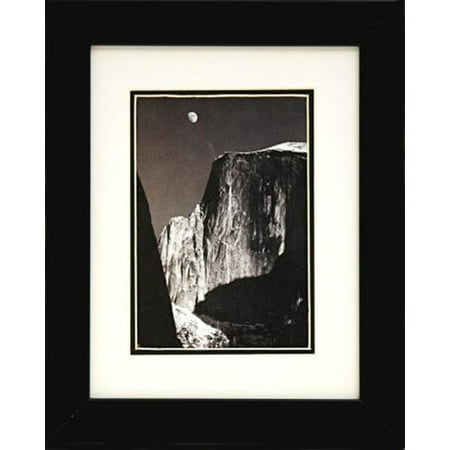 Buy Art For Less 'Moon and Half Dome' by Ansel Adams Framed Graphic Art ()