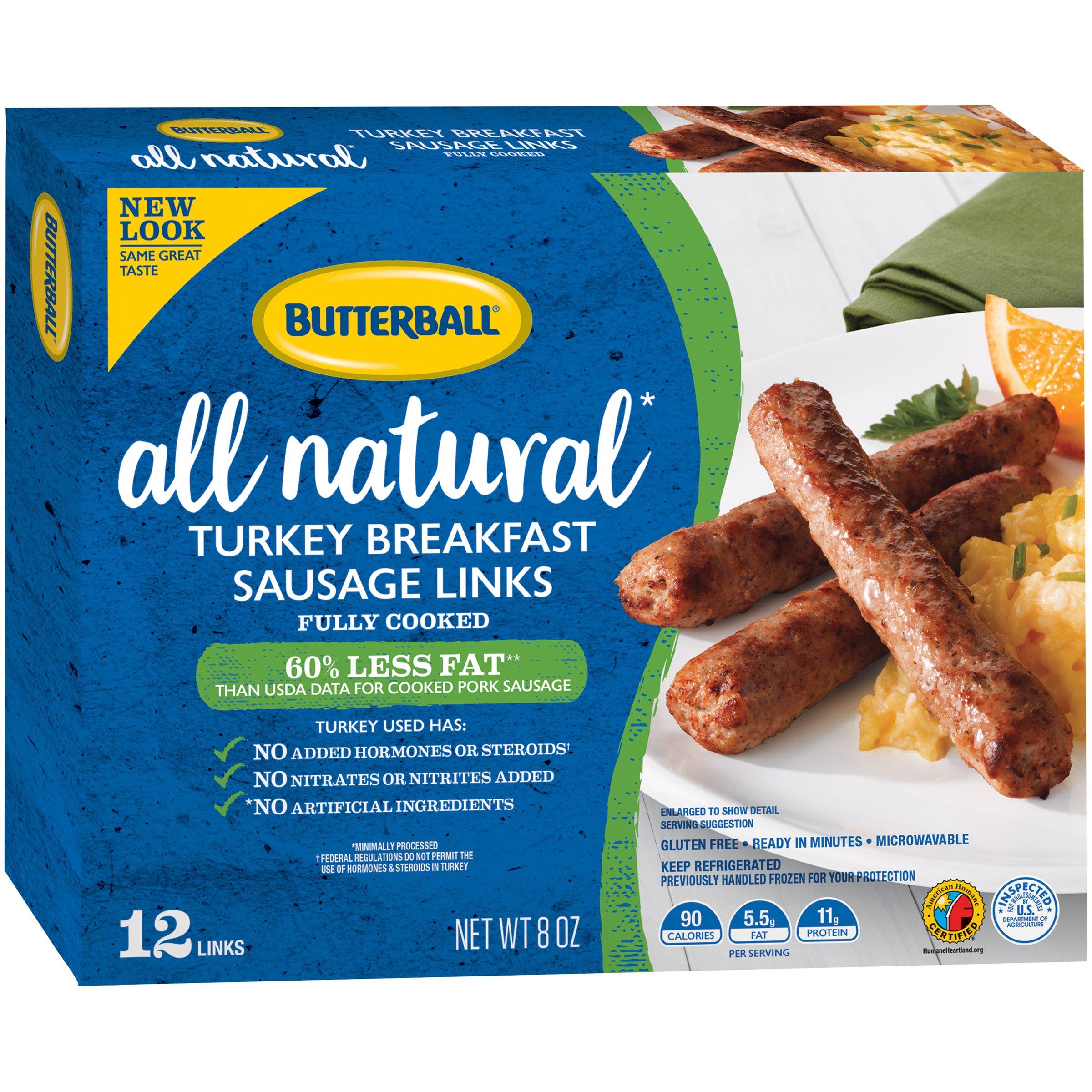 Butterball® Natural Inspirations Turkey Breakfast Sausage Links 8 oz. Box