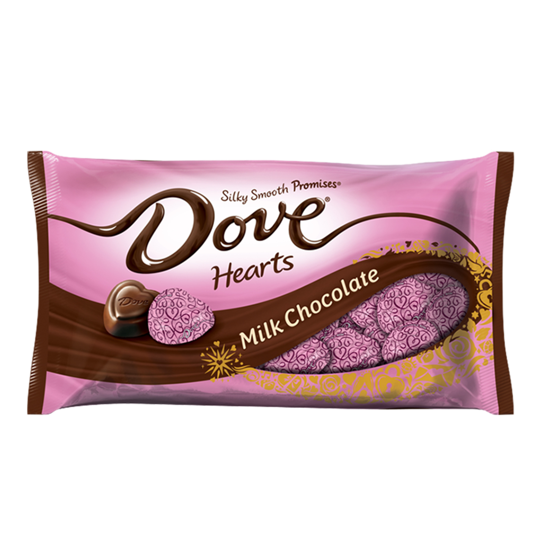 DOVE PROMISES Valentine's Heart Milk Chocolate Candy Bag, 8.87 oz
