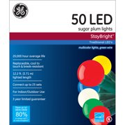 GE StayBright Sugar Multi-Colored Plum LED String Set, 50 Count