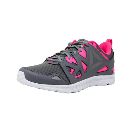 Reebok Women's Run Supreme 3.0 Mt Grey / Solar Pink Pewter White Ankle-High Running Shoe - (Nike Roshe Run Black And White Womens Australia)