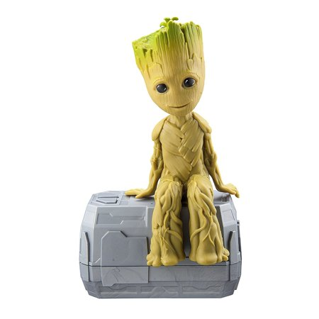 Marvel Guardians of the Galaxy Dancing Groot – NEW Talking I Am Groot Featuring Little Groot! Voice & Sound Activated Dancing Mini Groot with In-built