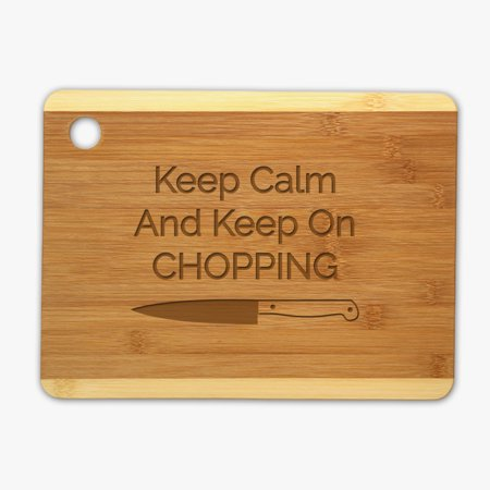 - Monogram Online Professional 1 piece Wood Cutting Board Keep Calm and Keep on Chopping Large: 9.25