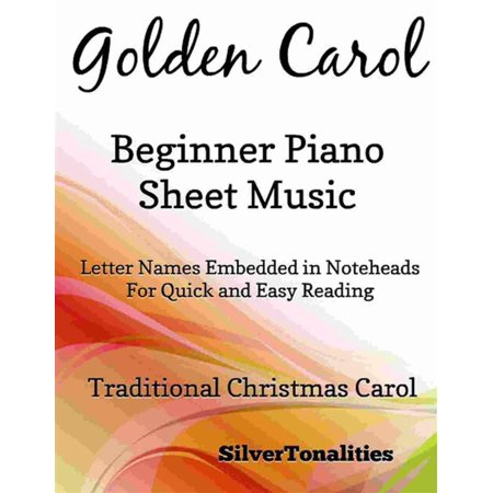 Golden Carol Beginner Piano Sheet Music - eBook (This Is Halloween Sheet Music Piano)
