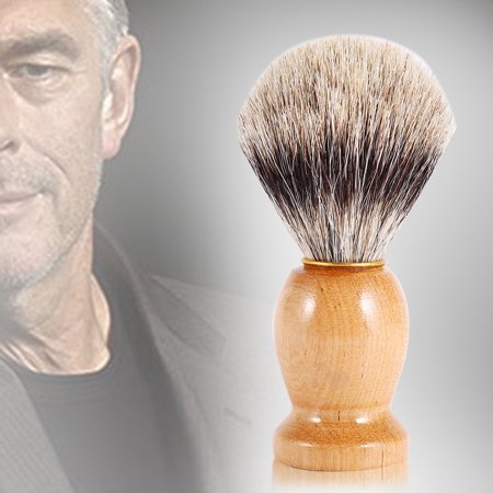 Hand Crafted Badger Shaving Brush with Hard Wood Handle, Men's Professional Hair Tool for Men Father Gift
