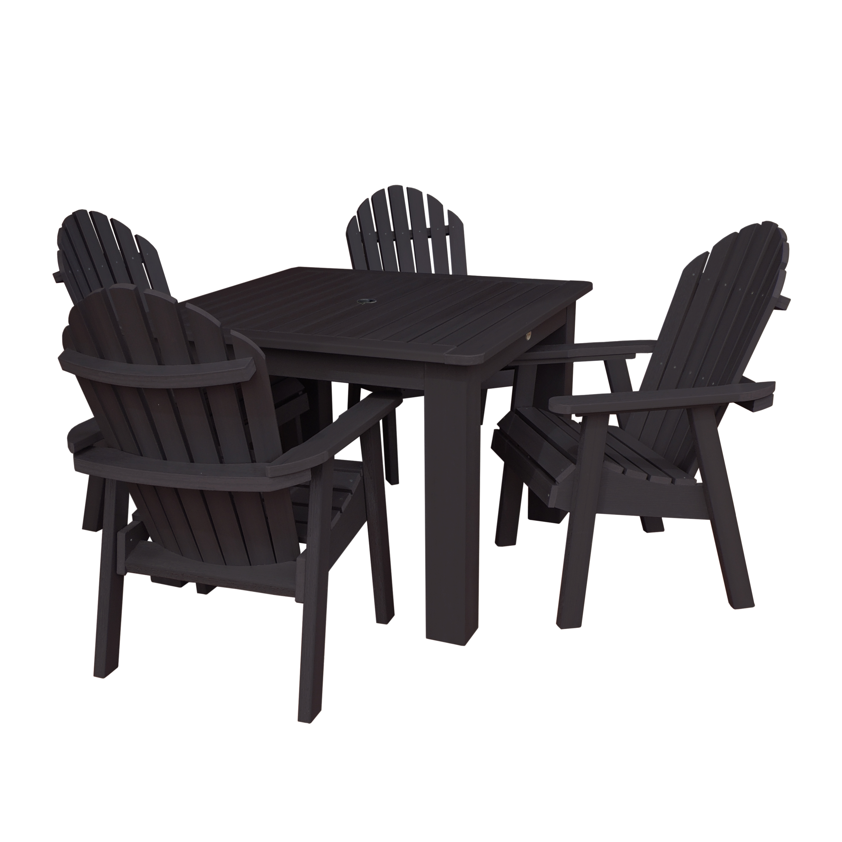 highwood® Eco-Friendly Recycled Plastic Hamilton 5pc Square Dining Set
