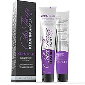 Keratin Complex Kerahold Color Therapy Keratin-Enhanced Permanent Crème Hair Color (5.4/5C Light Copper Brown)