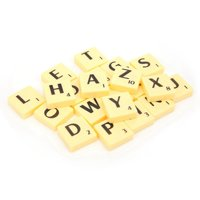 Mgaxyff Scrabble Tiles Letters Game, Scrabble Tiles Letters,Interesting Board Game Scrabble Tiles Letters Interactive Educational Children Toys
