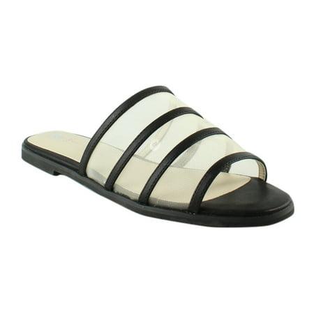 Black Raffia Footwear (BC Footwear Show Me How Flat Slide Sandal - Black)