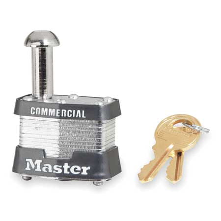Master Lock Key - MASTER LOCK 443LE Keyed Padlock,Different,1-9/16