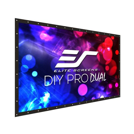 Elite Screens DIY Pro WreiVeil Dual Rear Series, 123-inch 16:9, Front/Rear Projection Do-It-Yourself Indoor & Outdoor Projection Screen, Model: