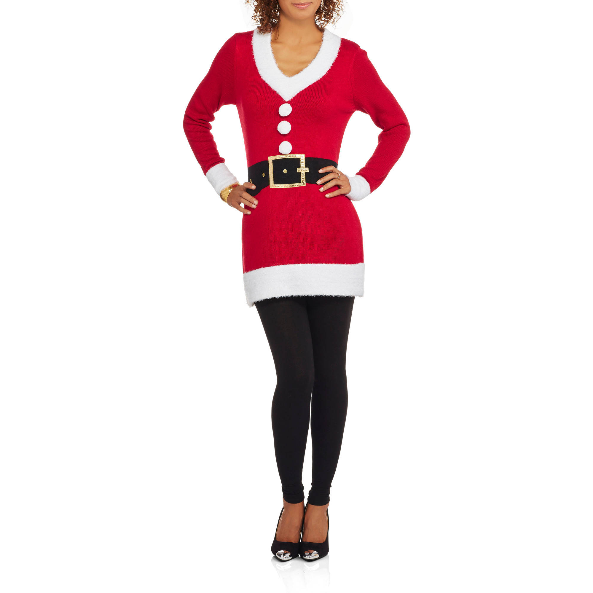 "Holiday Time Women's Christmas Tunic Sweater - ""SANTA OUTFIT"""