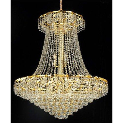 Elegant Lighting ECA1D30G/RC Chandeliers Belenus
