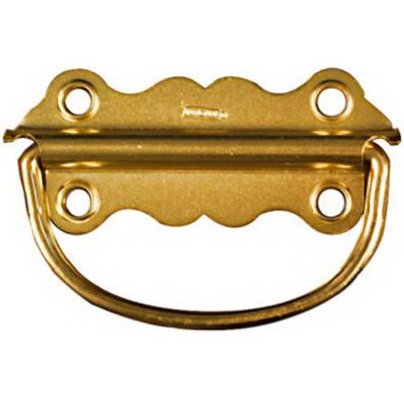 "Chest Handle, Bright Brass, 3-1/2"", 2 PK., Spectrum, N213-421"