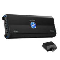Planet Audio Pulse 3000 Watt 2 Channel Full Range Class A/B Amplifier w/ Remote