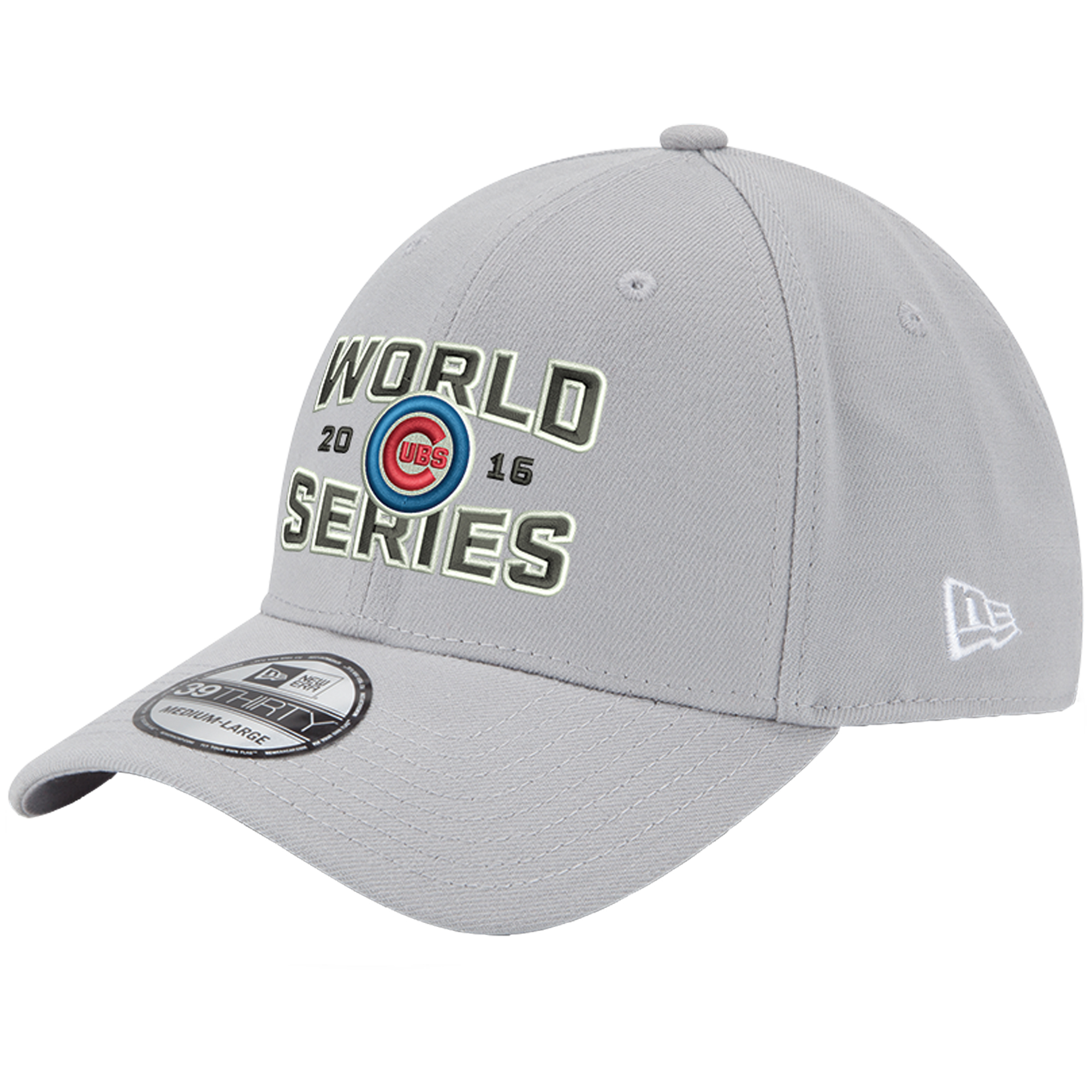 Chicago Cubs New Era 2016 World Series Champions 39THIRTY Flex Hat - Gray