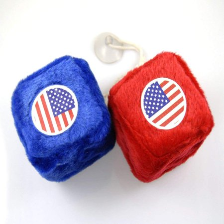 """USA Flag"" Car Fuzzy Dice, Fuzzy Dice designed to hang inside an automobile. By ACCmall"