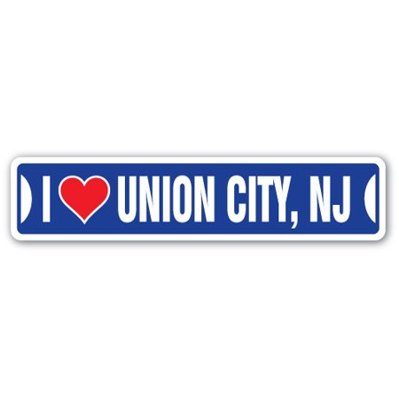 I LOVE UNION CITY, NEW JERSEY Street Sign nj city state us wall road d?cor gift](Party City In Wayne Nj)