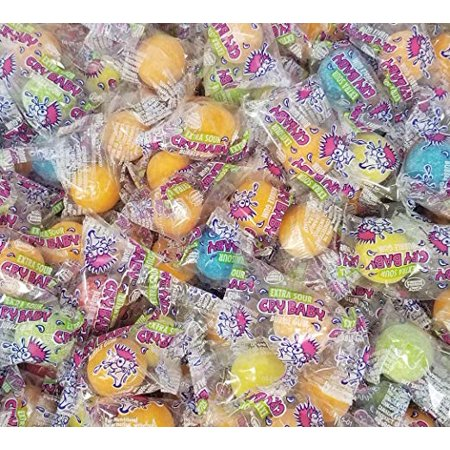 Cry Baby Extra Sour Bubble Gum, Individually Wrapped Chewing Gumballs Bulk 1 Pound Bag (Crybaby Sour Gum)