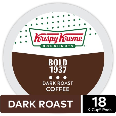 Krispy Kreme Doughnuts Bold 1937 Coffee, Keurig K-Cup Pod, Dark Roast, 18ct (Krispy Kreme Halloween Shirt For Sale)