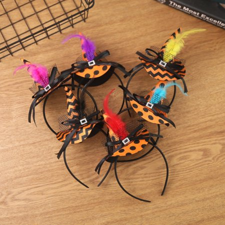 Halloween Headbands Witch Hat Hairbands Witch Hair Hoops Halloween Hair Accessories for Women Girls Halloween Costume