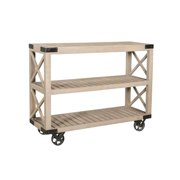 Style N Living IWHE-48 Wheel Console Table - 36 x 16 x 48 in.